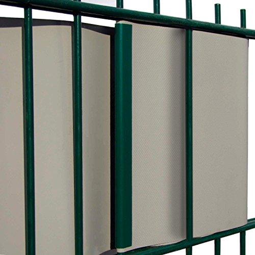 m tec premium pvc sichtschutzstreifen sonderangebot 35m 19cm breit anthrazit inkl 12. Black Bedroom Furniture Sets. Home Design Ideas