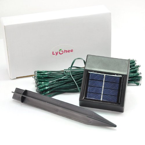 lychee 17m 55ft 100 led solar wassersch tzer lichterkette. Black Bedroom Furniture Sets. Home Design Ideas
