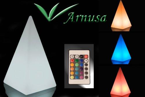 stehlampe mit fernbedienung led leuchte tischlampe arnusa oasis lights pyramide gro. Black Bedroom Furniture Sets. Home Design Ideas
