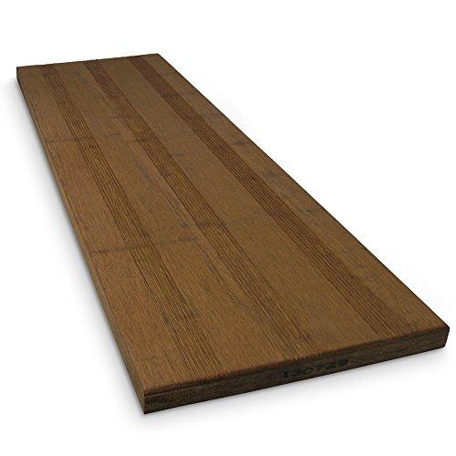 Terrassendielen aus Bambus sehr pflegeleicht Maße: XXL 950x300x30cm  Langlebiger, wasserabweisender und stabiler Bodenbelag (175,26€m²)