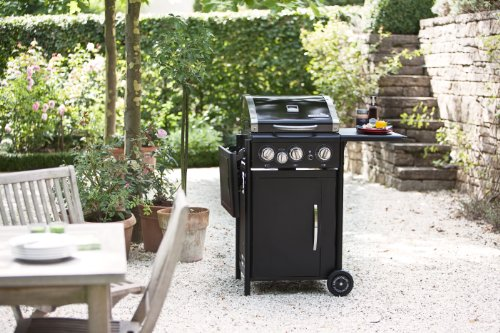outdoorchef hamilton 3g schwarz bbq gasgrill grillstation 3 brenner mit seitenkocher. Black Bedroom Furniture Sets. Home Design Ideas