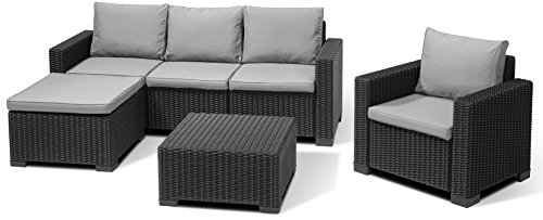 allibert lounge set moorea grau 4 teilig alles f r garten. Black Bedroom Furniture Sets. Home Design Ideas