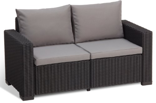 Allibert lounge sofa california grau 2 sitzer alles for Sofa fur garten