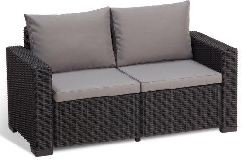 Allibert Lounge Sofa California Grau 2 Sitzer Alles