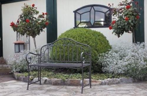 gartenbank eisen metallbank bank metall 2 sitzer 110cm neu alles f r garten. Black Bedroom Furniture Sets. Home Design Ideas