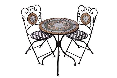 hochwertiges aufwendig gearbeitetes mosaik tisch set. Black Bedroom Furniture Sets. Home Design Ideas