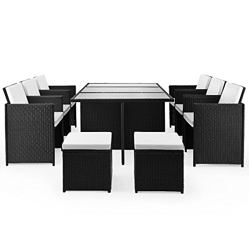 poly rattan sitzgruppe 27tlg sitzgarnitur gartengarnitur rattanm bel cube alles f r garten. Black Bedroom Furniture Sets. Home Design Ideas