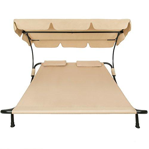 garten doppelliege mit sonnendach. Black Bedroom Furniture Sets. Home Design Ideas