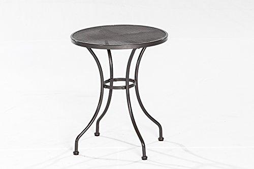 bistrotisch streckmetalltisch delos 60cm rund antzrazit alles f r garten. Black Bedroom Furniture Sets. Home Design Ideas