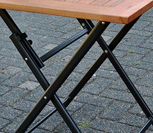 Klapptisch Holz 70x70 Terrassentisch Eukalyptus Balkontisch