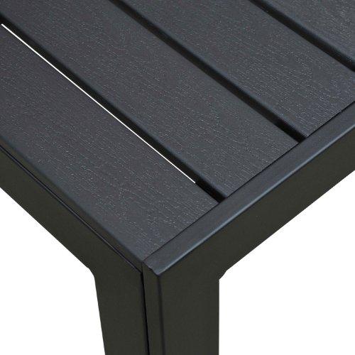 Outsunny Gartentisch Aluminium Tisch Garten Terrasse Holz