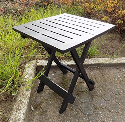 praktischer beistelltisch camp butler farbe grausilber tischplatte 44 x 44 cm belastbar. Black Bedroom Furniture Sets. Home Design Ideas