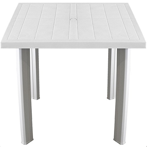 Praktischer Gartentisch 80x75cm Kunststofftisch Campingtisch