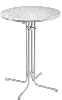 Stehtisch 80 Cm Klappbar.Stehtisch Tisch Klappbar ø 80cm Wetterfest Marmor