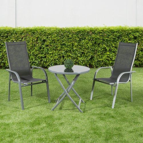 ultranatura aluminium terrassentisch korfu serie plus klappbar grau alles f r garten. Black Bedroom Furniture Sets. Home Design Ideas